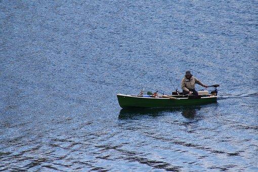 Achensee, Fisherman, Lake, Boat, Fishing, Fish, Water