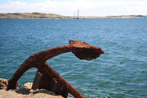 Anchor, Sea, Pinwheel, Water, Blue, Coast, Port
