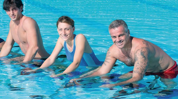 Aquabike, Sport, Bike, Swimming Pool