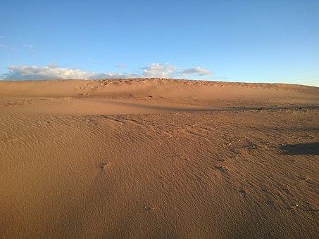 Deserted, Sand, Sky, Nature, Blue Sky, Dahl, Horizon