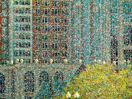 Confetti, Festivity, Celebration, Boston, Copley Square