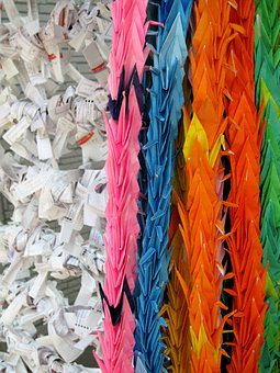 Japan, Thousand Origami Cranes, Check Paper