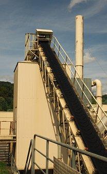Old Factory, Kieswerk, Marble, Industry, Conveyor Belt