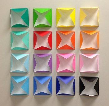 Origami, Colors, Square, Paper, Design, Creative