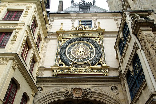 France, Rouen, Normandy, Dial, Clock, Middle Ages