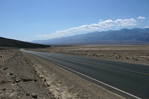Endless, Road, Death Valley, California, Usa, Scenery
