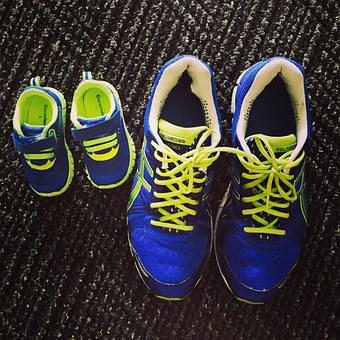 Sneakers, Father, Son, Baby, Shoes, Sport, Footwear