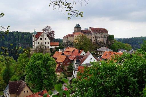 Castle Hohnstein, Height Burg, Rock Castle, Around 1200