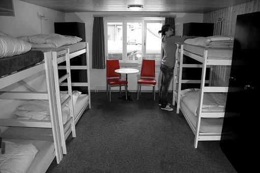 Bed, Room, Hostel, Eiger North Face, Grindelwald