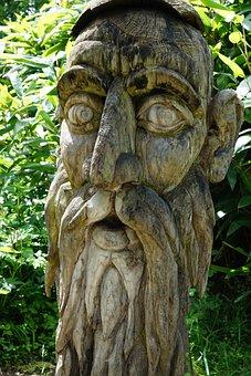 Face, Wood, Carve, Fig, Human, Art, Sculpture, Head