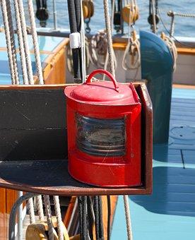 Lamp, Red, Ship, Light, Old, Lantern, Sailing Ship