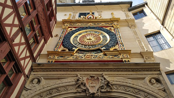 Middle Ages, Clock, Rouen, Normandy, Dial, France