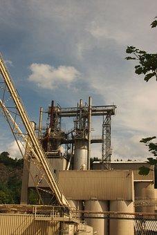 Old Factory, Headframe, Kieswerk, Marble, Industry