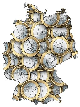 Germany, Map, Outline, Euro, Covered, Total Coverage