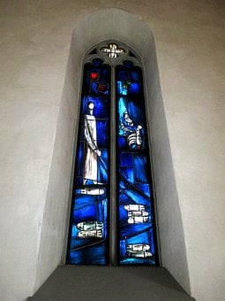 Church, Reformed, Window, Glass, Painting, Color