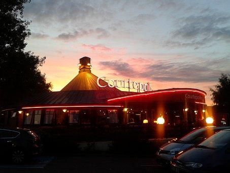 Courtepaille, Rouen, Normandy, France, Sky, Sunset