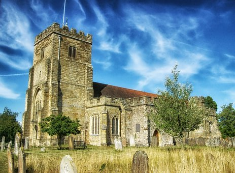 St George, Church, Cemetery, Sky, Clouds, Architecture