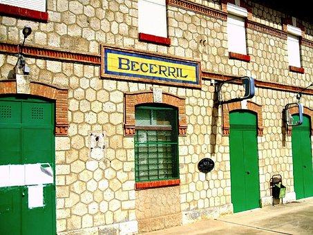 Palencia, Spain, Building, Stone, Windows, Doors, Green