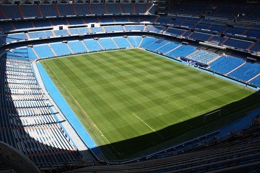 Stadium, Football, Madrid, Santiago Bernabeu, Lawn
