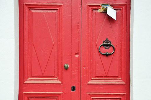 Door, Red, Entry, City, Architecture, Red Door, Street