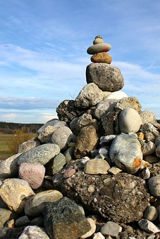 Balance, Stones, Stone Hill, Hill, Scree, Boulder Hill