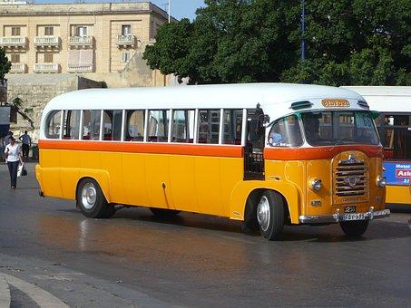 Bus, Yellow, Vintage, Transport, Vehicle, Travel
