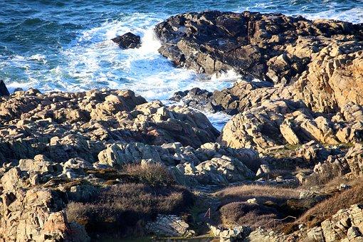 Cliffs, Mountain Water, Coast, Sound, Kullaberg