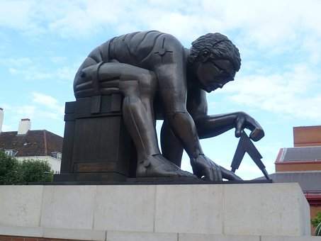 Statue, Bronze, Compass, Landmark, Sculpture, Ancient