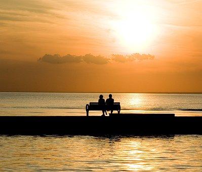 Bench, Couple, Romantic, Love, People, Lifestyle, Happy