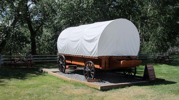 Covered Wagon, Wild West, Farm, Ranch, Horses