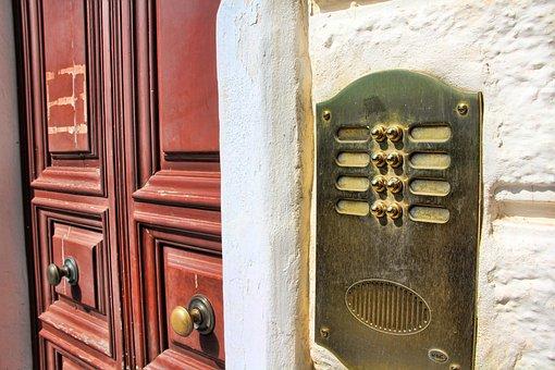 Door, Bell, Input, Front Door, House Entrance, Doorbell