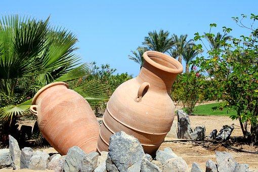 Jar, Jars, Palm Trees, Garden, Summer, Nature, Sound