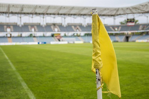 The Ball, Stadion, Flag, Football, The Pitch, Grass