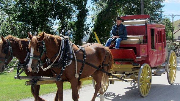 Stagecoach, Wild West, Horses, Ranch, Farm, Coach