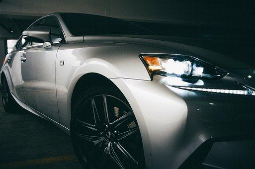 Car, Silver, Sports Car, Alloy Rims, Light-alloy Rims