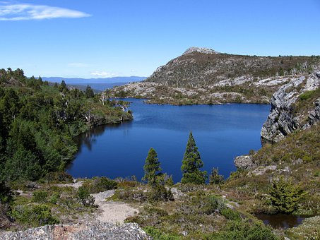 Tasmania, Hiking, Track, Mountains, Lake, Landscape