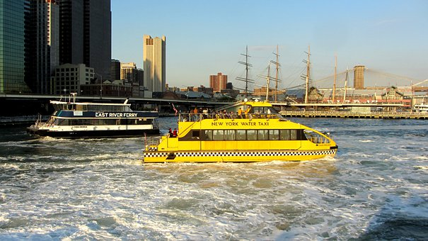 Water Taxi, New York City, East River, Manhattan, Nyc
