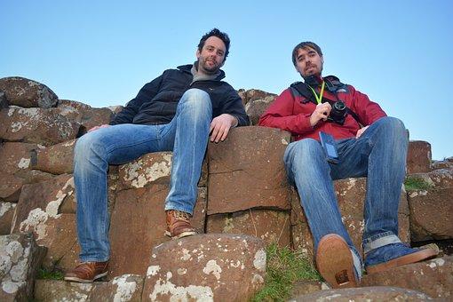 Photographer, People, Rocks, Rock Formation