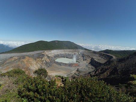 Volcano, Poas Volcano, Costa Rica, Travel