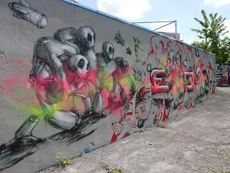 Street Art, Grafitti, Backdrop, Colorful, Color