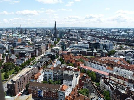 Hamburg, City, Hanseatic City, Germany, Building, Tower