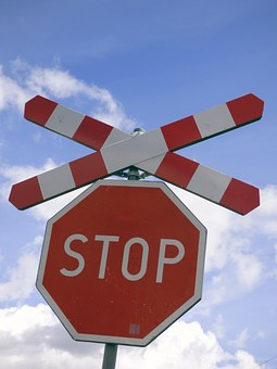 Sign, Stop, The Passage Of, Railway, Train