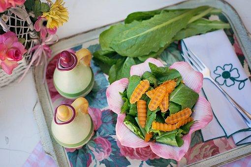 Salad, Summer, Greens, Veggies, Lettuce Summer Lunch