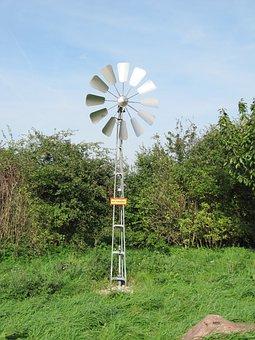 Pinwheel, Wind Power, Water Pump, Irrigation, Water