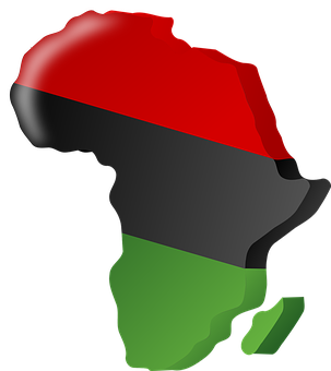 Pan-african Flag, Africa, Continent, Nation, Flag, Red