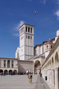 Basilica, Basilica Of San Francesco, Assisi, Italy