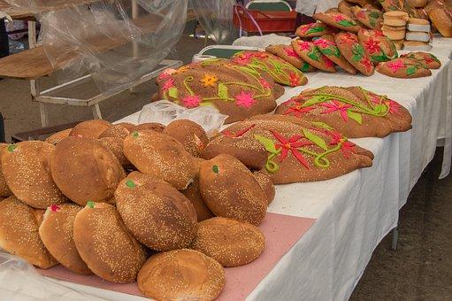 Bread, Pan De Muerto, Zaachila, Oaxaca