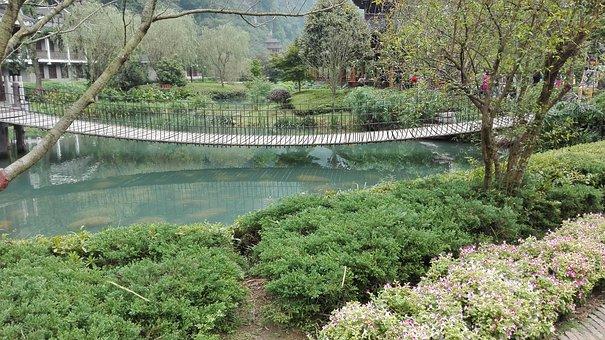 Small Fresh, The Scenery, China Wind, Bridge, Water