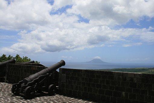 Brimstone Hill Fortres, British Fort, Canon, Military