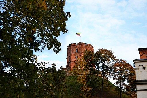 Architecture, Autumn, Building, Castle, Gediminas